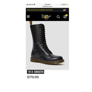Dr. Martens Shoes - Dr martens Women Boot- style 1914- black smooth